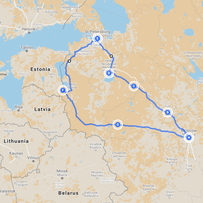 Best of Russia Motorycle Tour